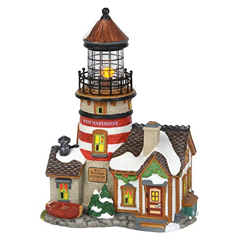 Department 56 New England Village West Haberdine Lighthouse Building 6000608 New