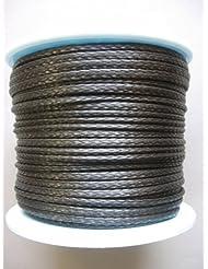 Dyneema trenzado carbongrau diámetro 5mm (lona de algodón trenzado de Dyneema)