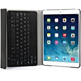 iPad Air 2 Funda con Teclado Bluetooth ,CoastaCloud iPad Air 2 Funda Cubierta Protectora con Teclado Inalambrico QWERTY Español para Apple iPad Air 2 (A1566, A1567)Negro