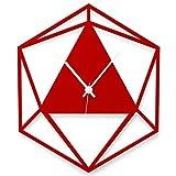 WANDKINGS Wanduhr Triangle aus Acrylglas, in 11 Farben erhältlich (Farbe: Uhr = Hellrot glänzend; Zeiger = Weiß)
