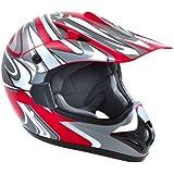 Akira Casco de Moto Ishido Motocross Rojo / Gris 2XL