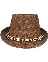 Sombrero De Paja De con Hombres El Los Sombrero Modernas Casual del Sol De  Seashell Sombreros del Vaquero Sombrero del Jazz… b9902df4960