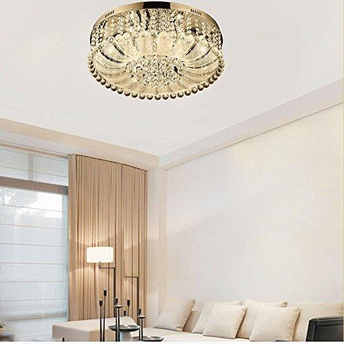 Angelxue Deckenleuchte Im Europäischen Stil Einfache Europäische Runde Kristall Deckenleuchte D480 * H230 (Moderner Runder Schnitt)