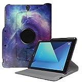 Fintie Hülle für Samsung Galaxy Tab S3 T820 / T825 (9,68 Zoll) Tablet-PC - 360 Grad Rotierend Schutzhülle Cover Case Tasche mit Auto Schlaf/Wach Funktion und eingebautem S Pen Halter, Die Galaxie