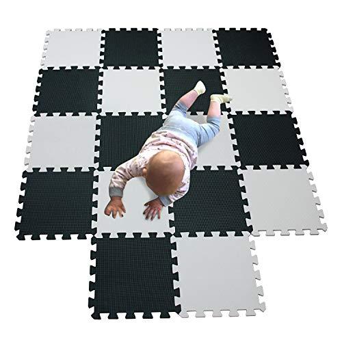 MQIAOHAM bébé eva multicolores activite à ramper tapis sol enfant tapis en mousse puzzle tapis de jeux bebe de sol jeu tapis pour puzzle chambre epais gym aire de jeux blanc noir 101104