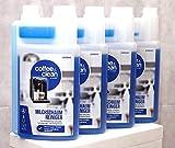 JaPeBi 4X 1 Liter Milchschaumreiniger Milchsystemreiniger Geeignet für Alle Kaffeevollautomaten und Espressomaschinen