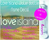 Love Island Water Bottle Name Decal