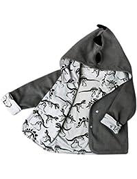 Ropa de bebé, RETUROM La moda de invierno caliente con capucha Boy Dinosaur Ropa
