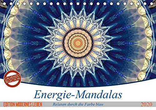 Energie-Mandalas in blau (Tischkalender 2020 DIN A5 quer): Editionskalender Energie-Mandalas in blau von Christine Bässler (Monatskalender, 14 Seiten )