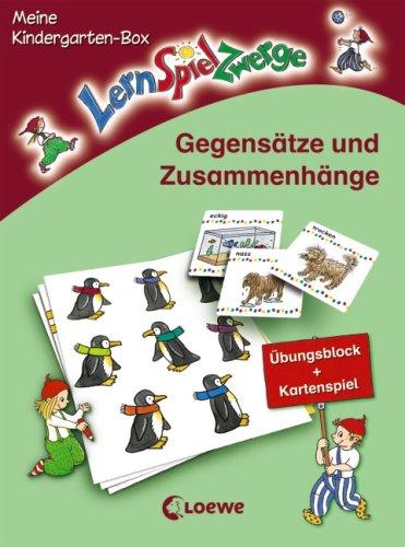 Gegensätze und Zusammenhänge: Meine LernSpielZwerge-Kindergarten-Box