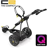 CARRITO DE GOLF ELECTRICO POWAKADDY C2 COMPACT CON BATERIA DE LITIO 18/27 HOYOS COLOR GRIS METAL OSCURO