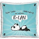 Hope und Gloria 45676 Plüsch-Kissen mit Panda-Motiv E-LAN, Zier-Kissen, ca. 25 cm x 25 cm