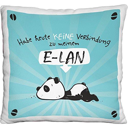 Die Geschenkewelt 45676 kleines Plüsch-Kissen mit Panda-Motiv E-LAN, Zier-Kissen, ca. 25 cm x 25 cm