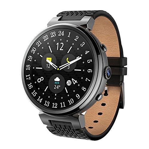 Galleria fotografica Lemumu JSBP I6 Interpad originale Bluetooth Creative Smart Watch per Android 5.1 MTK6580 Quad Core 1.3 GHZ 2GB 16GB Smartwatch Supporto 3G WIFI GPS,Nero