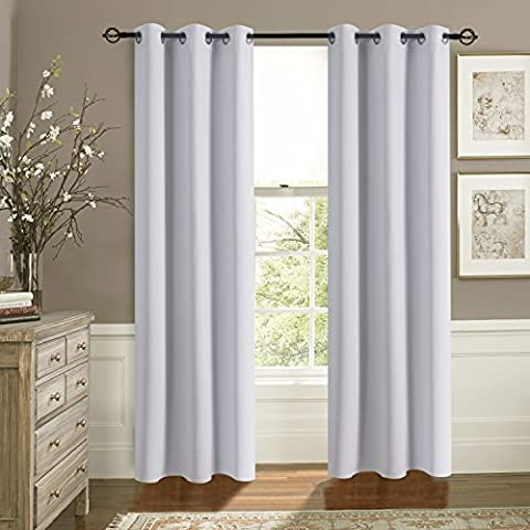 Thermal Insulated Eyelet Blackout Curtains - Aquazolax Premium Interwoven Lining