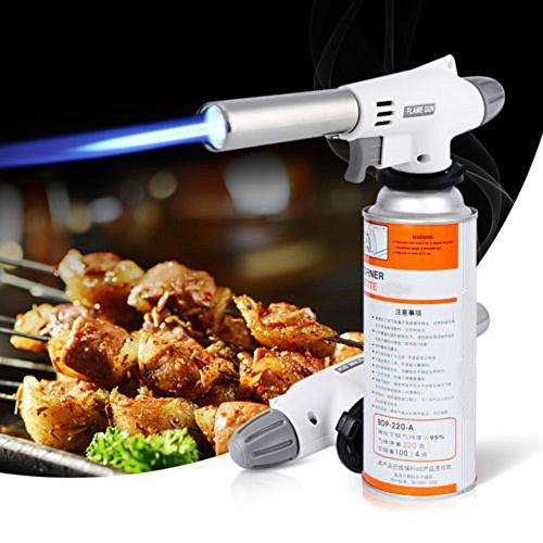 Preisvergleich Produktbild MMLC Flame gun Kochen Taschenlampe Brenner Speisen Gas Taschenlampe mit,  geeignet für Kochen (White)