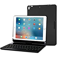 ProCase iPad 9.7 2018/2017 Keyboard Case - 360 Degree Rotation Swivel Cover Case with Wireless Keyboard for Apple iPad 9.7 Inch, Also Fit iPad Air