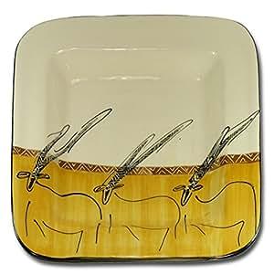 "'Grand plat ""Oryx carrée env. 38x 38cm"