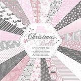 Dovecraft Paper Addicts Christmas Belle - Blocco di Carta Artigianale 30,5 x 30,5 cm