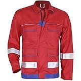 KERMEN - Arbeits-Jacke Frankfurt Reflex-Streifen - Größe: 60, Farbe: Rot