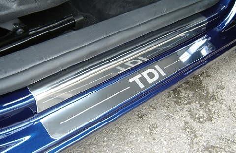 Volkswagen Golf Mk 6 3 Door Hatch (2009 - Early 2013) 4 x Tailored Chrome Door Sill Protectors With
