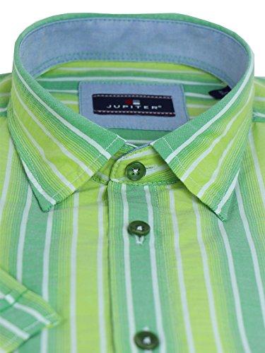 Kurzarmhemd von Jupiter Streifen grün Grün