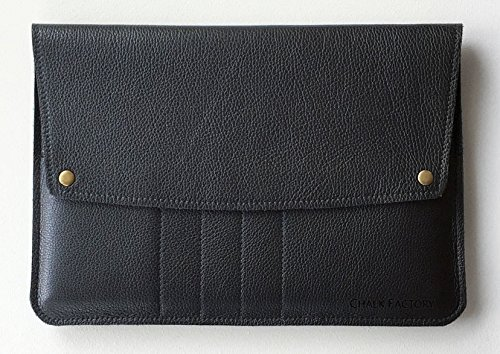 Chalk Factory Full Grain Leather Portable Sleeve/ Bag/ Slipcase for HP 15-ac082TX 15.6-inch Laptop #FLP (Black)  available at amazon for Rs.2639