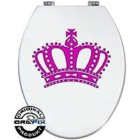 Pegatinas Colour de rosa corona para pressalit WC tapa de inodoro