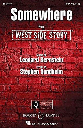 West Side Story: Somewhere. Frauenchor (SSA) und Klavier. Chorpartitur.