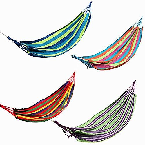 Bazaar Extérieur balançoire hamac en toile colorée de bande couché lit d'inclinaison pour le camping randonnée pique-nique