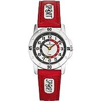 Certus 647542 - Reloj de aprendizaje de cuarzo para niño, correa de poliuretano color rojo de Certus