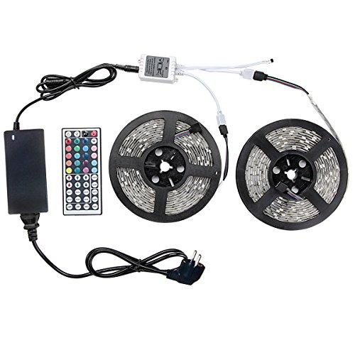 WenTop Tira Led no Impermeable,RGB LED Strip 10m 5050 SMD Cinta LED...