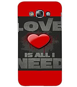 SAMSUNG GALAXY GRAND 3 LOVE Back Cover by PRINTSWAG