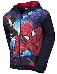 Spiderman Zip Through Child Fleece Lined Hoodie Ages 3-8 Years
