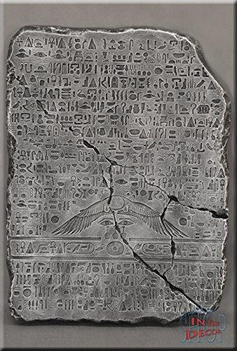Ägyptische Tafel Wandrelief Relief 3D Bild Wandbild Skulptur Antik Kunstharz