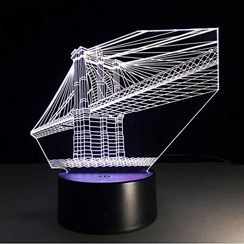 tlichter San Francisco Bridge 7 Farben Deco Lampe Für Kinder TouchUsbTisch Nachtlicht Sensor Lampe ()