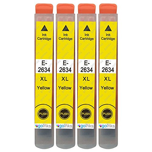 4 Go Inks Cartucce di inchiostro Giallo per sostituire Epson T2634 (26XL Series) compatibile/non originale per Stampanti Epson Expression Premium