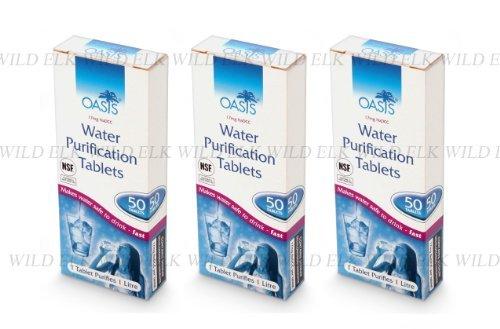 3er Pack Oasis Wasserentkeimungstabletten (150 Stück)