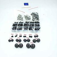 154de piezas negra 6–24mm Teddy Ojos Seguridad Ojos plástico Ojos muñeca Ojos