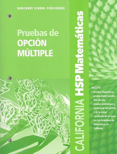 SPA-CA HSP MATEMATICAS P-GRD 2 (Harcourt School Publishers Spanish Math)