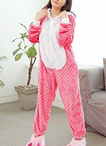 Frauen 'S Adult Pyjamas Cosplay Tier Kostüm Winter Verdickung Freizeitbekleidung,Punkte,L (Koala Bär Hund Kostüm)