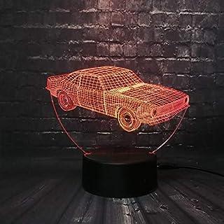 ZXYD Retro Animation Cooles Auto 3D USB LED Lampe Auto-Styling Bunte Cool Boy Geschenk Spielzeug Nachtlicht Tischdekoration,Nur 3 Farben wechseln