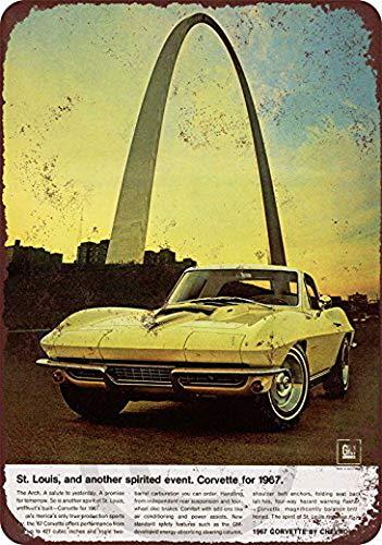 Harvesthouse 1967 Chevrolet Corvette St. Louis Reproduction Metal Sign 8 x 12 by - Corvette St. Louis