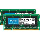 Crucial - Kit de memoria para Mac (4 GB, 2x 2 GB DDR2, PC2-5300, 667 MHz, SODIMM, 200-Pin)