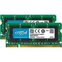 Crucial CT2KIT25664AC667 - Memoria RAM de 4GB Kit (2GBx2) DDR2 667MHz (PC2 5300) SODIMM 200-Pin