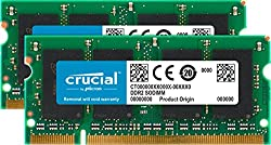 Crucial 4gb Kit (2gbx2) Ddr2 667mhz (Pc2-5300) Sodimm 200-pin Memory For Mac - Ct2c2g2s667mceu