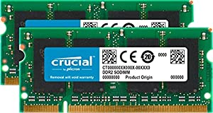 Crucial CT2KIT12864AC667 Kit Memoria da 2 GB (1 GB x 2), DDR2, 667 MHz, PC2-5300, SODIMM, 200-Pin