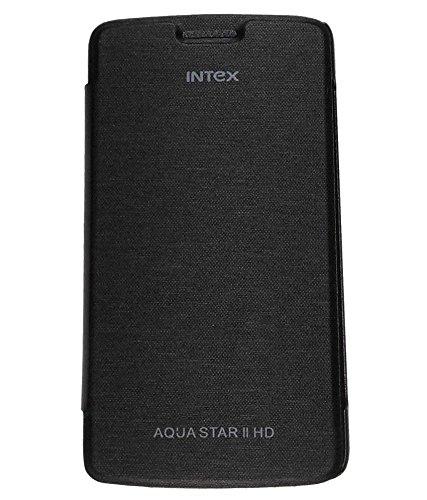 BETLIC Flip Cover For Intex Aqua Star 2 HD -Black  available at amazon for Rs.128