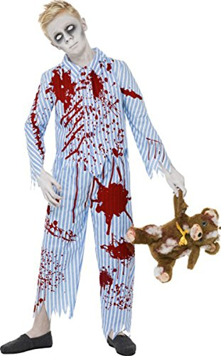 Kinder Zombie Schlafanzug Boy Kostüm Kinder Halloween Fancy Party komplett Kleid Gr. M, multi