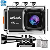 ieGeek 4K 20MP Wifi Action Camera 2.0'' LCD Screen 170 Wide-Angle with EIS